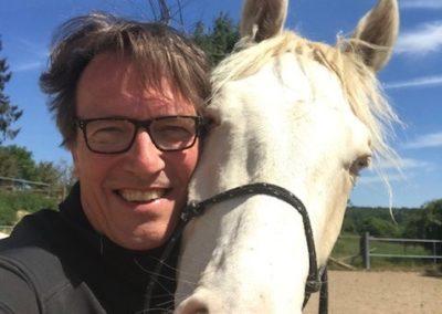 Alexander von Canal mit Pferd
