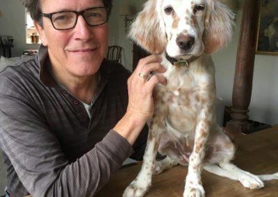 Alexander von Canal mit seinem Hund